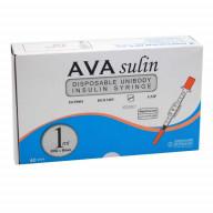 سرنگ انسولین یکپارچه آوا بسته 40 عددی حجم 1 میلی لیتر گیج 30