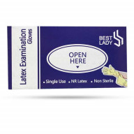 دستکش لاتکس پودری سایز کوچک Best Lady بسته 100 عددی