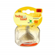 سر شیشه ارتودنسی دهانه عریض قاب کریستالی بی بی لند 501 و 502 Baby Land Orthodontic Nipple