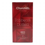 کاندوم خاردار و شیاردار با اسانس گرم (RED) چرچیلز 12عددی