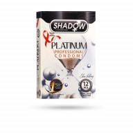 کاندوم پلاتینیوم شادو بسته 12 عددی