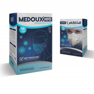ماسک N95 فیلتردار مداکس بسته 18 عددی