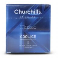 کاندوم ساده تاخیری دابل با ژل روان کننده (COOL ICE) چرچیلز 3عددی