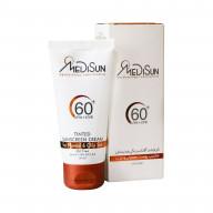 کرم ضد آفتاب رنگی SPF60 مدیسان مناسب پوست چرب و معمولی Medisun Sunscreen Cream SPF60