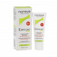 فلوئید ضد آفتاب نوروا سری Exfoliac با SPF 50