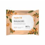 دستمال مرطوب پاک کننده آرایش صورت مناسب پوست خشک و حساس حاوی روغن آرگان 20 عددی