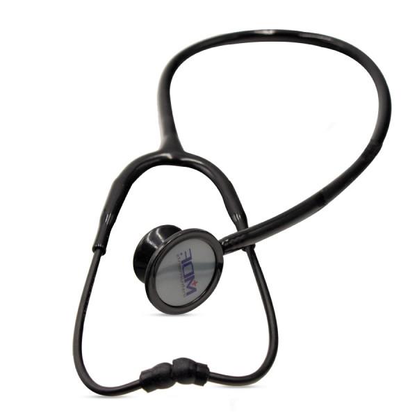 گوشی پزشکی دو طرفه بزرگسال و اطفال تیتانیوم MDF مدل 777DT رنگ تمام مشکی (stethoscope)