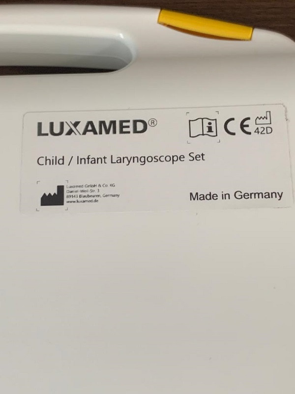 ست لارنگوسکوپ اطفال و نوزاد فیبر نوری قابل تعویض لوکسامد