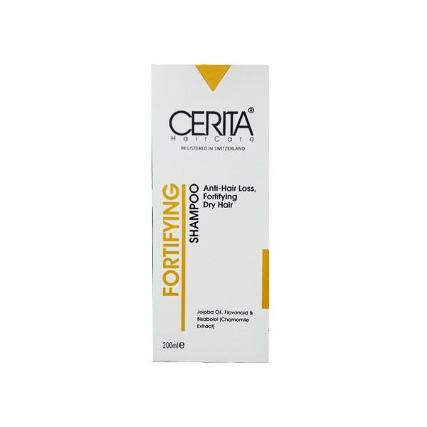 شامپو تقویت کننده و ضد ریزش مناسب موهای خشک سریتا حجم 200 میلی لیتر
